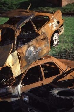 Scrap cars left