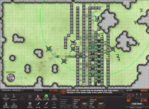 An example of a maze in Warzone Tower Defense